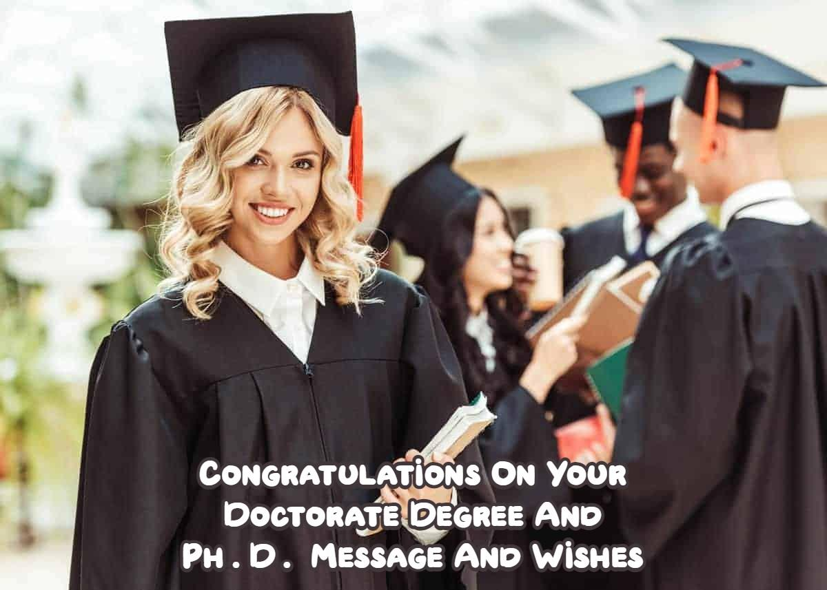 Congratulations On Your Doctorate Degree