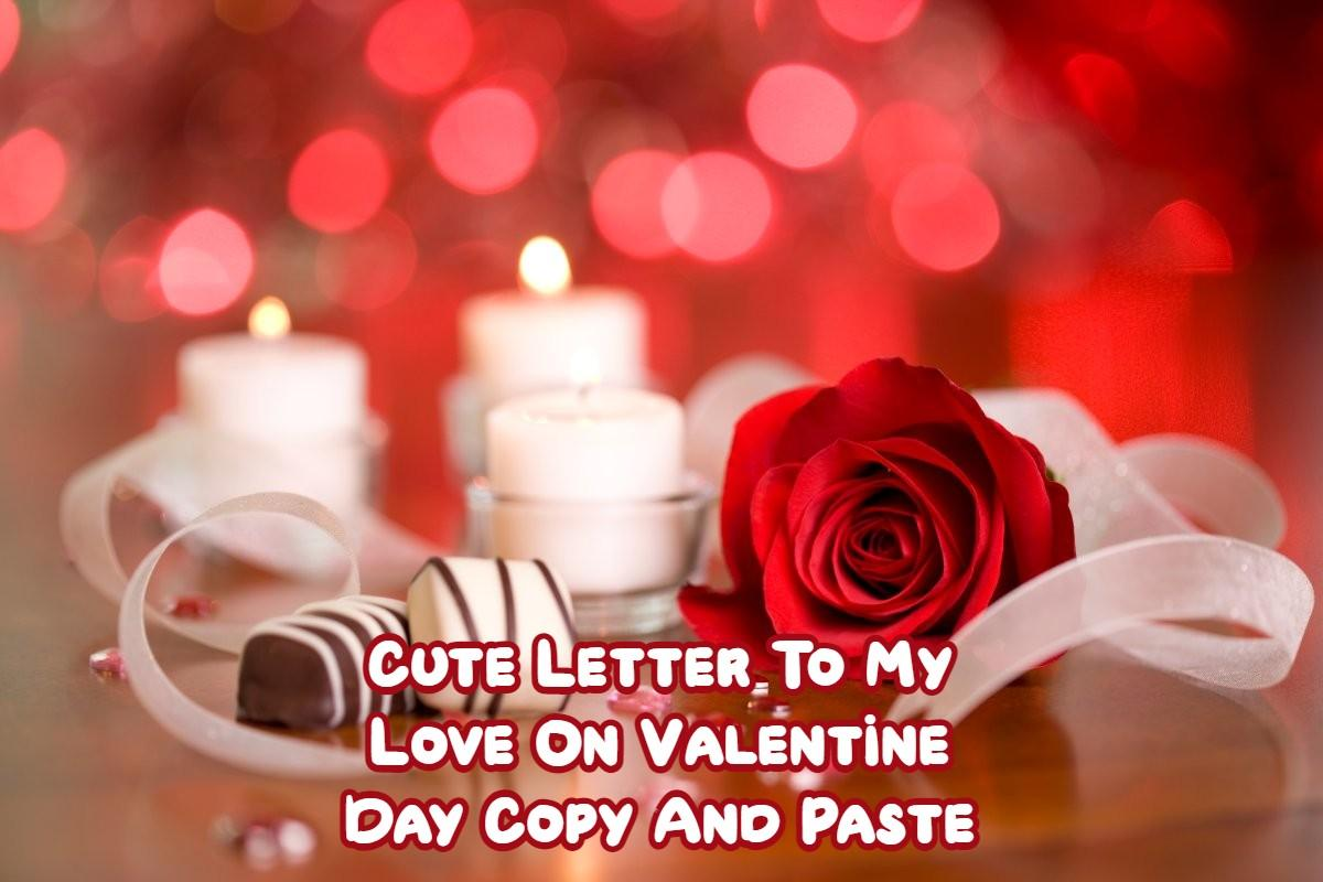 Letter To My Love On Valentine Day