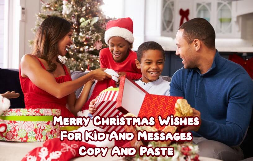 Merry Christmas Wishes For Kid
